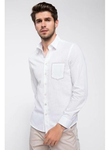 DeFacto Erkek Gömlek Beyaz